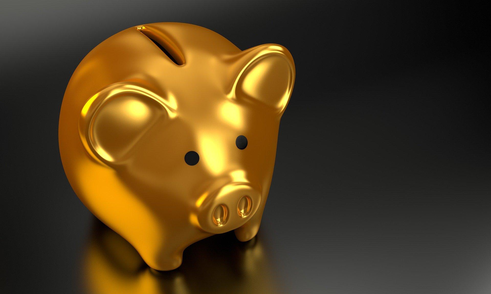 gold Schwein